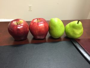 4 pieces of Fruit