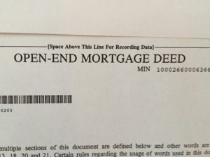 "words on paper ""Open End Mortgage"""