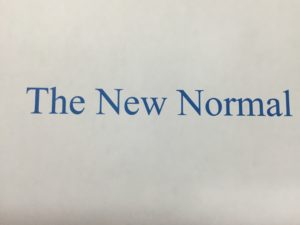 "graphic words ""The New Normal"""