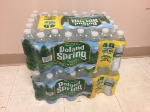 2 cases of water